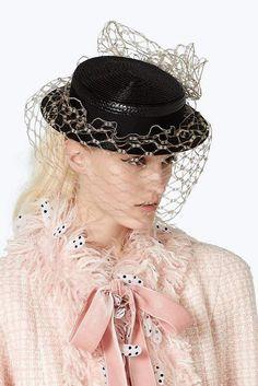 e94b720ad2e9b Marc Jacobs x Stephen Jones Millinery Boater Hat with Veil Stephen Jones