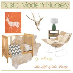 """""""Rustic Modern Nursery"""" by thelifeoftheparty on Polyvore"""