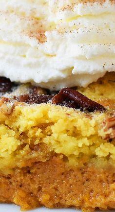 Pumpkin Praline Butter Dump Cake