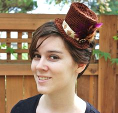 Tea or Coffee? Miniature Top Hat Fascinator #steampunkhat