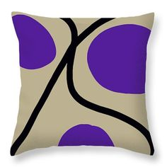 Unique Throw Pillows,Abstract Pillow,Taupe Black Amethyst Purple Accent Pillows,Tan Designer Pillows,Home Interior,Decorator Cushion,Modern by HeatherJoyceMorrill on Etsy