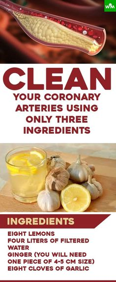 If you start using these three ingredients, your arteries will be thankful to you, since they will remove fat from the blood and clean clogged arteries
