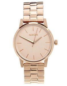 nixon small rose gold kensington watch