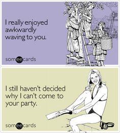 Socially awkward moments