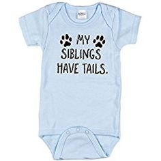 My Siblings Have Tails Bodysuit for Baby boys, Coming Home Outfit, Blue 0-3 m