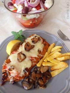 Σνίτσελ φούρνου με μοτσαρέλα... ωδή στη νοστιμιά & την απλότητα   Tante Kiki   Bloglovin' French Toast, Mexican, Meat, Cooking, Breakfast, Ethnic Recipes, Food, Kitchen, Essen