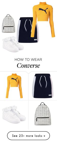 """""""Untitled #1232"""" by lolatruth on Polyvore featuring NIKE, Converse, Puma and MCM"""