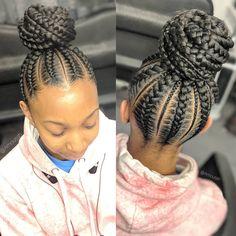 black braided hairstyles Cornrows Braided Hairstyles Beautiful and Trendy African Braids To Try out Box Braids Hairstyles, Braided Ponytail Hairstyles, Braided Hairstyles For Black Women, Natural Hairstyles For Kids, Cool Hairstyles, Children Hairstyles, Hairstyles Videos, Beautiful Hairstyles, Teenage Hairstyles