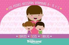 Los #peques necesitan #vitaminas A B y C #Abrazos #Besos #Caricias  #CalzadoTropicana