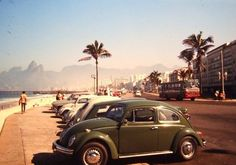 Ipanema Beach, Rio de Janeiro, 1971. The Ipanema Pier can be seen in the background. It was a famous surfing spot until it was taken down.