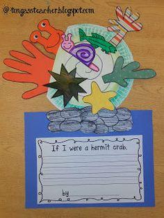 crab writing activities
