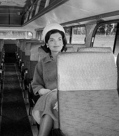 Jacqueline Kennedy on the campaign trail