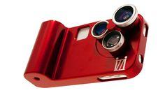 The Orbit with adjustable iphone lenses, telephoto lens, fisheye, macro by izzi gadgets