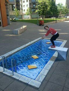 Zwembad op straat