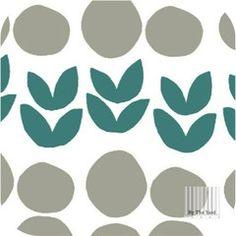 Bella - Pebbles & Plants in Teal