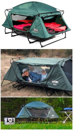 Kamp Rite CTC Double is a two person version of the Kamp Rite CTC. Sets up easily and quickly, and eliminates sleeping on damp or rocky ground while providing protection from insects and other annoying outdoor pests. Zelt Camping, Camping Cot, Diy Camping, Camping Survival, Camping And Hiking, Camping Meals, Camping Hacks, Rv Hacks, Outdoor Fun