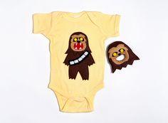 Baby Chewbaboo Onesie + Rattle Gift Set