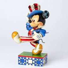 "He's our yankee doodle sweetheart! ""YANKEE DOODLE MICKEY"" - MICKEY MOUSE AS UNCLE SAM FIGURINE (Jim Shore #Disney Traditions)"