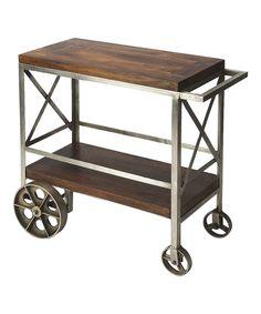 Love this Mango Wood Trolley Serving Cart on #zulily! #zulilyfinds