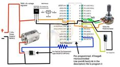 How to build a simple PWM DC Motor Speed Controller using ATmega8 microcontroller, MOSFET and POT - YouTube