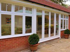 Maythorn Location: Cobham, Surrey Products on display: ☼ Timber Flush Casement Windows☼ Timber Roof Lantern ☼ Timber Patio Doors