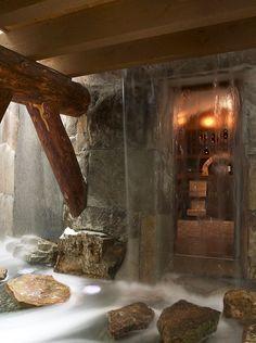 View of wine cellar designed by Billy Benson
