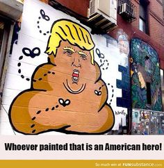 This Donald Trump painting is so realistic.