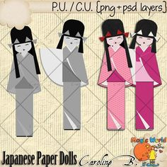"#Caroline B. - CU Japanese Paper Doll Template This product incudes :  - 2 PNG file  - 2 PSD layered template, grey scale, 300dpi, you can apply styles, papers, easily change colors, etc...   - My CU Term Of Use (TOU).    This is NOT a CU4CU item.         Choose your licence : ""With Credit Required"" (Regular Commercial Use) or ""With No Credit Required"" (Additional $) http://www.carolineb-design.com/index.php?main_page=product_info&products_id=839"