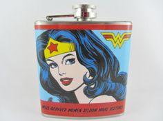 "Wonder Woman Flask - ""Well-behaved women seldom make history."""