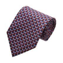 Salvatore Ferragamo Republican Elephant Print Tie