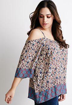 Floral Print Open-Shoulder Top | Forever 21 PLUS | #f21plus