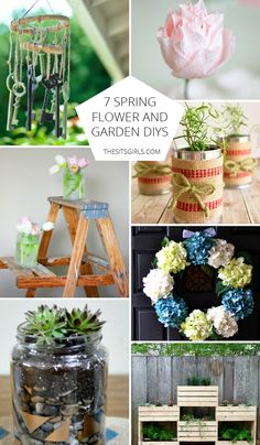 Celebrate spring gardens with 7 DIY ideas for flowers, gardens, and vases. Vintage Gardening, My Secret Garden, Diy Planters, Growing Flowers, Spring Garden, Spring Flowers, Garden Furniture, Beautiful Gardens, Paper Flowers