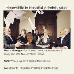 Seriously though...free snacks? I'll pass. Give me the safe nurse to patient ratios instead.