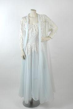 1950s Sheer Lace Lingerie Set