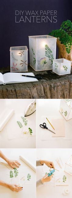 diy, diy projects, diy craft, handmade, diy wedding wax paper lantern