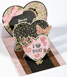 Heart Triple Easel Die-Cut Cards by Hot Off The Press Inc (4103430)
