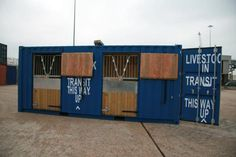 Shipping container conversions for shipping live stock