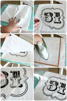 How to make pillows with vinyl