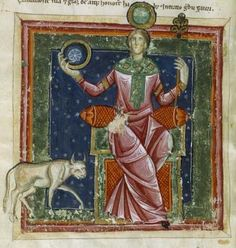 "Luna in esaltazione nel Segno del Toro. Miniatura dal ""Liber Astrologiae"" di Georgius Zothorus Zaparus Fendulus, XIII sec."