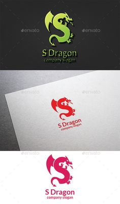 Awesome Dragon Logo PSD Template • Download ↓ https://graphicriver ...