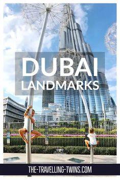 Famous Landmarks in Dubai – The Travelling Twins Travel General, Burj Al Arab, Visit Dubai, Dubai Mall, Shopping Malls, Famous Landmarks, Burj Khalifa, Travelling, Fun Facts
