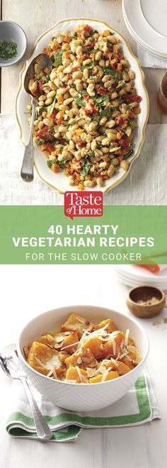 40 Hearty Vegetarian Recipes for the Slow Cooker from Taste of Home