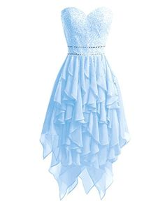 YOUTODRESS Womens Sweetheart Beaded Chiffon Homecoming Dresses High Low Bridesmaid Evening *** Examine this awesome product by going to the link at the image. (This is an affiliate link). Cute Formal Dresses, Pretty Prom Dresses, Hoco Dresses, Dance Dresses, Ball Dresses, Homecoming Dresses, Beautiful Dresses, 1950s Dresses, Prom Gowns