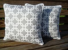 grey graphic pillows on etsy
