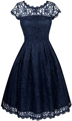 Angerella Womens Retro Floral Lace Cap Sleeve Vintage Swing Bridesmaid Dress XLarge *** Check this awesome product by going to the link at the image. (This is an affiliate link) Cap Sleeve Bridesmaid Dress, Vintage Bridesmaid Dresses, Prom Party Dresses, Vintage Dresses, Evening Dresses, Vintage Lace, Retro Vintage, Pretty Dresses, Beautiful Dresses