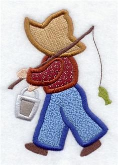 Un dia de pesca (Fisherman Fred Quilt Block) Baby Boy Quilt Patterns, Mug Rug Patterns, Quilt Block Patterns, Applique Patterns, Applique Designs, Quilting Designs, Machine Embroidery Applique, Applique Quilts, Fish Quilt