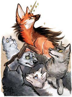 unicorn among wolves by Fukari on DeviantArt