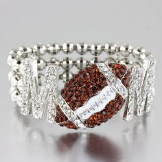 Football Mom Bling Stretch Bracelet by BlinginBlonde on Etsy
