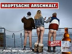 © Astra / Carlsberg Deutschland Will Turner, Beer Poster, Great Ads, Guerrilla, Love My Job, Man Humor, Photography Poses, Einstein, Comedy