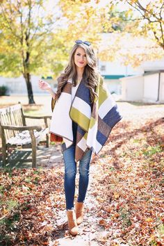 Banana Republic poncho  c/o (also love THIS ONE ) // Banana Republic suede handbag  c/o   satin V-neck cami  //  similar je...